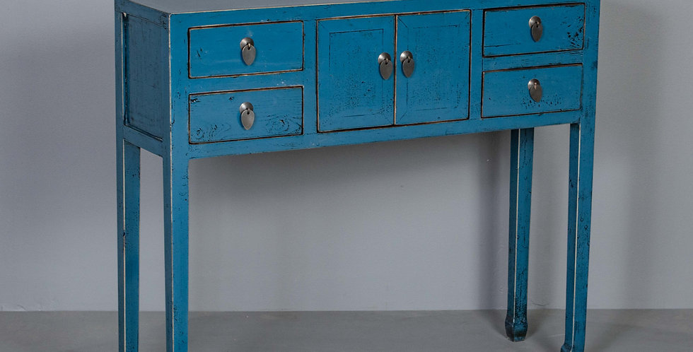 Blue Entryway Table  / Cabinet