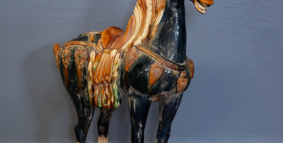 Large Glazed Ceramic Tang Horse