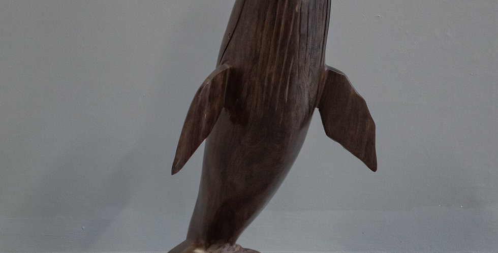 Ironwood Whale Sculpture