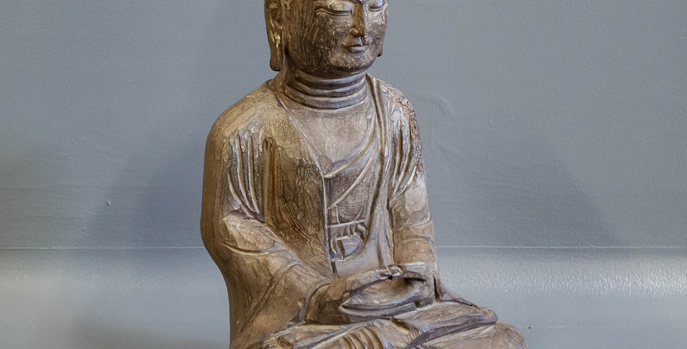 Chinese Carved Stone Sitting Buddha