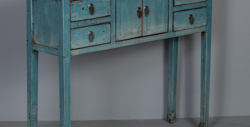 Light Blue Chinese Entryway Table  / Cabinet