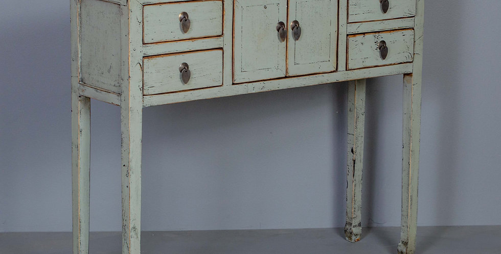 Light Gay/Green Chinese Entryway Table Cabinet