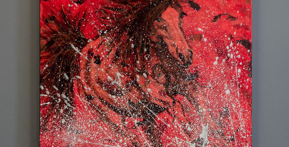 """Original Oil Painting by Shawndell Oliver:  """"Water Games"""""""