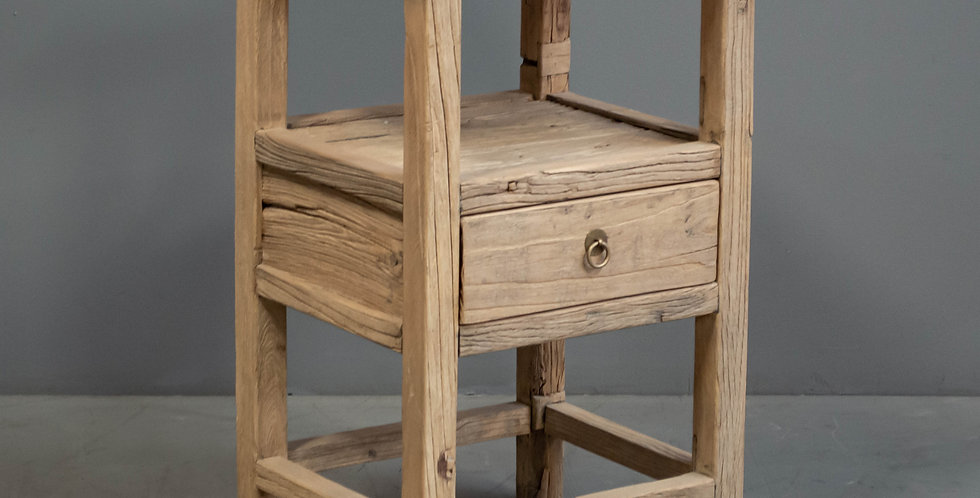 Rustic Chinese Elm Nightstand/Side Table