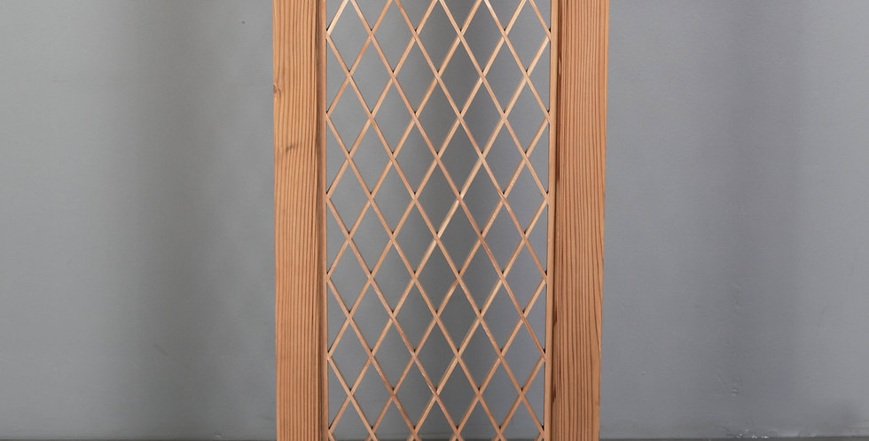 Vintage Japanese Cedar Lattice Window