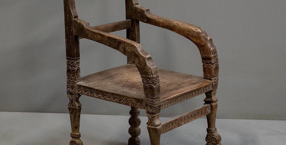 Carved Indonesian Ritual Armchair