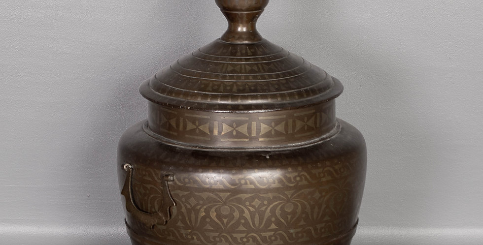 Antique Bronze Burmese  Alms Pot
