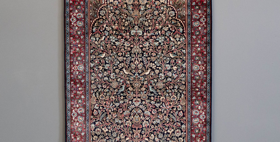 Hand Made Silk Rug from India