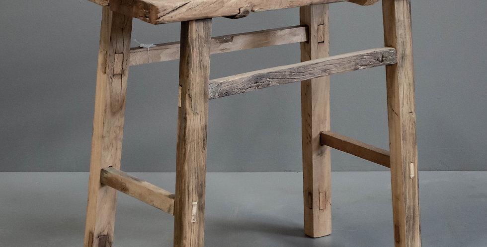 Rustic Chinese Hardwood Side Table