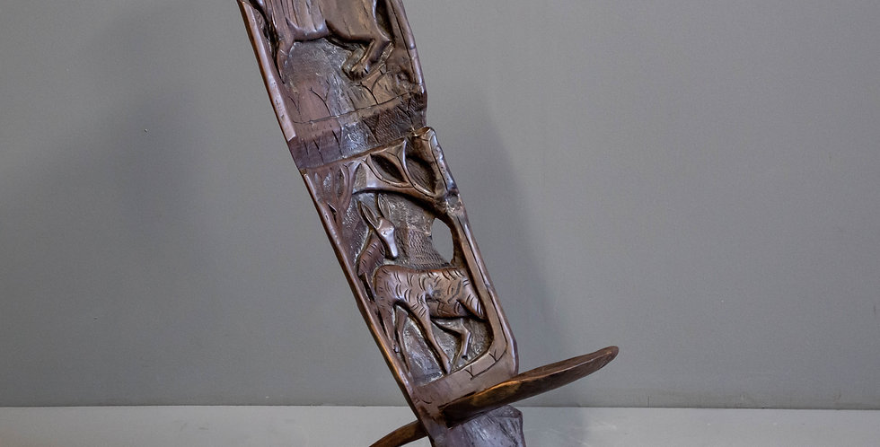 Vintage Carved African Chair