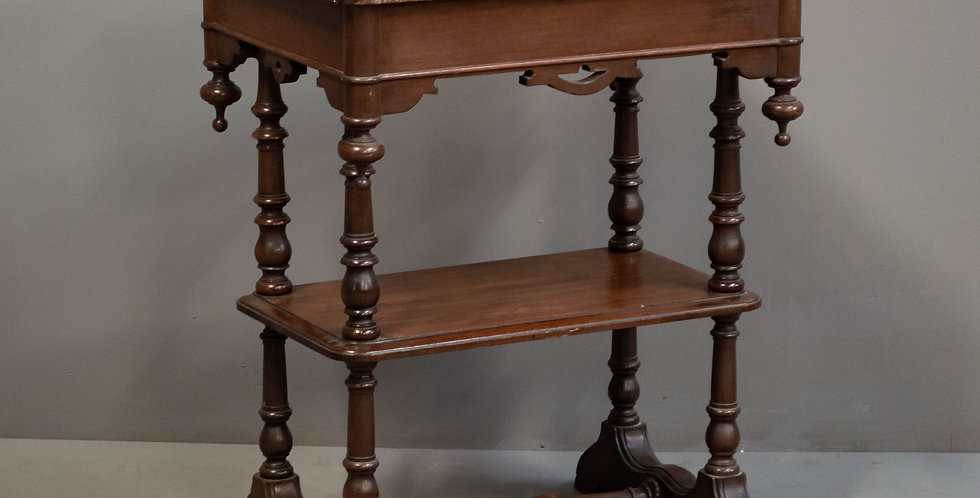 American Victorian Walnut Side Table