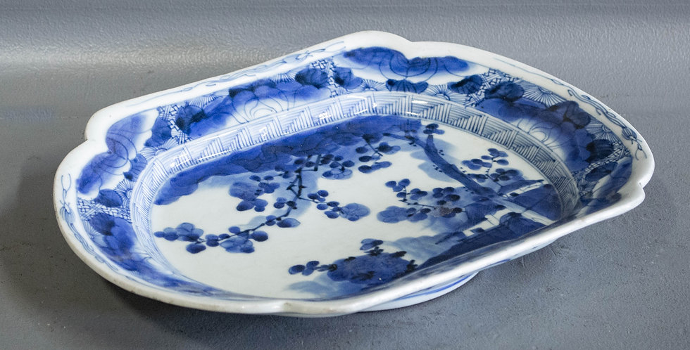 Antique Chinese Blue & White Platter