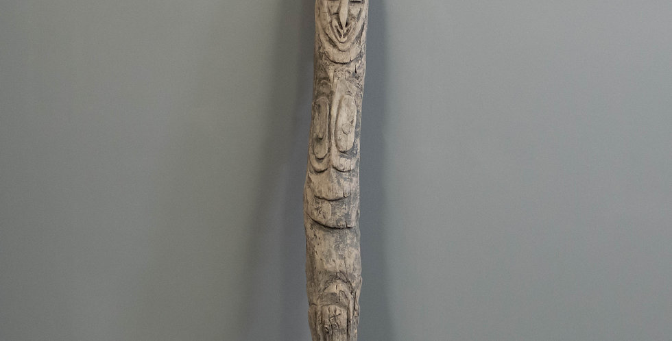Carved House Post from PNG (Tribal)