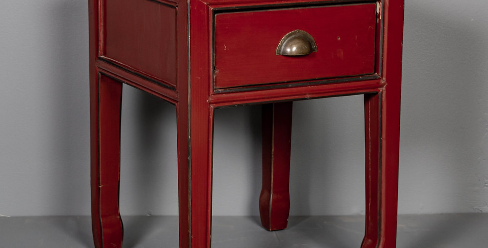 Red Lacquered Nightstand