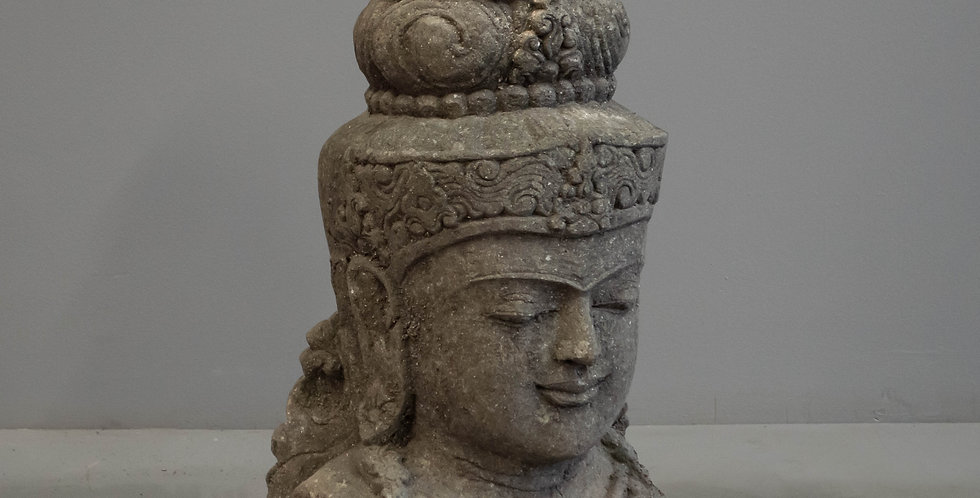 Large Carved Stone Saraswati Head