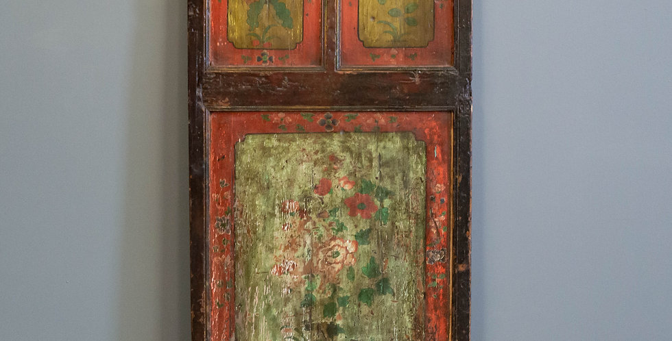 Antique Painted Chinese Bed Panel