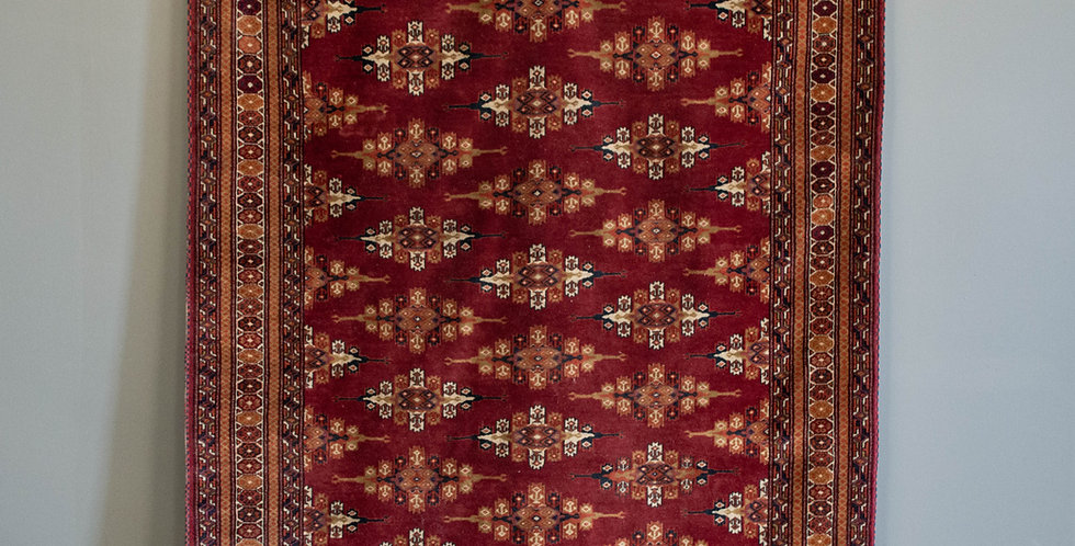 Large Hand Knotted Wool Rug