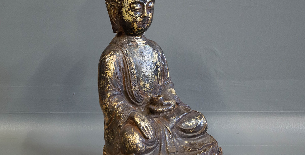 Small Chinese Cast Iron Buddha
