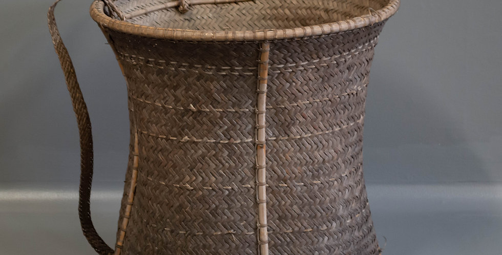 Vintage Coffee Picking Pack Basket