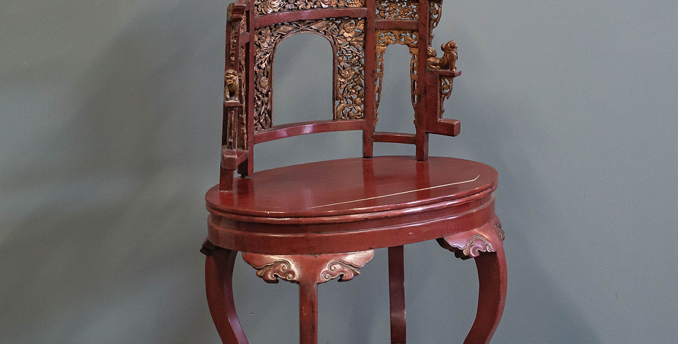 Antique Red Lacquered Chinese Washstand