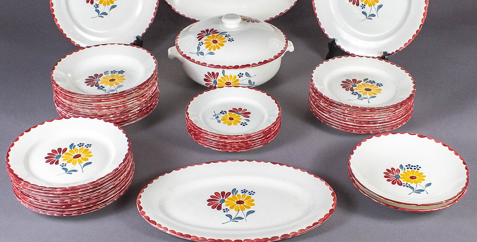 Vintage French Country Floral Dish Set