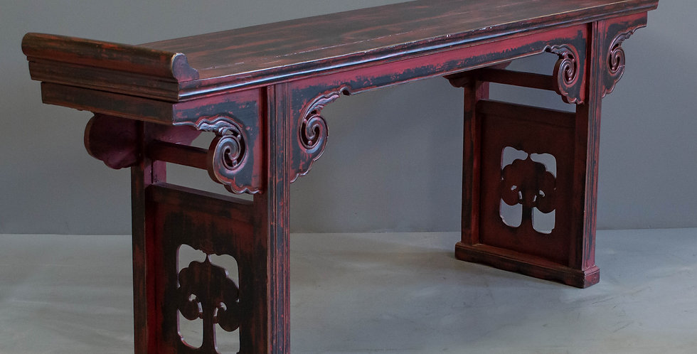 Red and Black Lacquered Altar Table