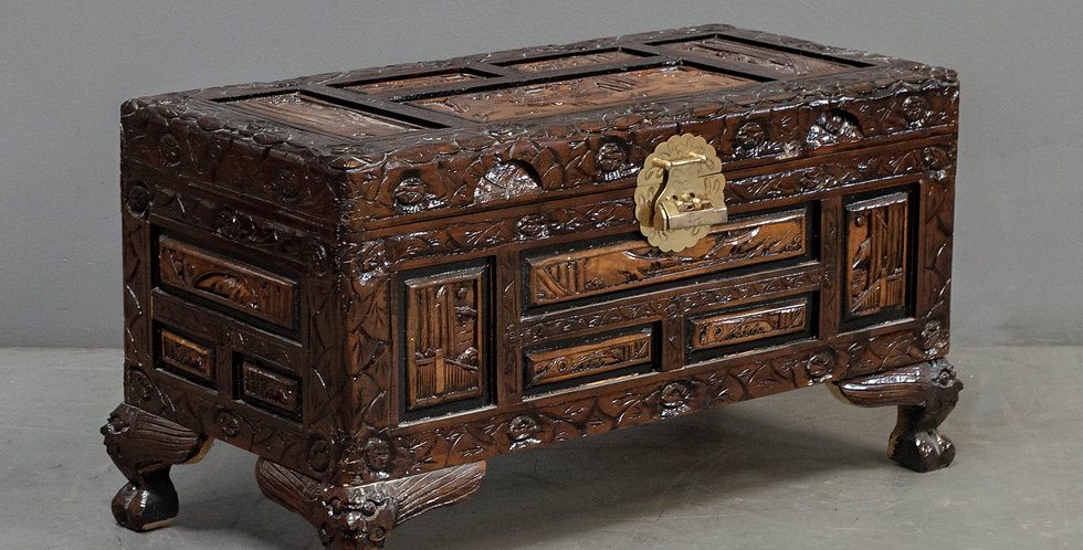 Small Carved Vintage  Chest