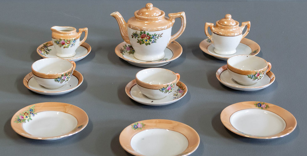 Vintage Child's Porcelain Tea Set