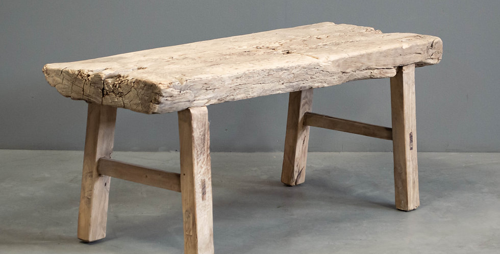 Rustic Chinese Elm Bench