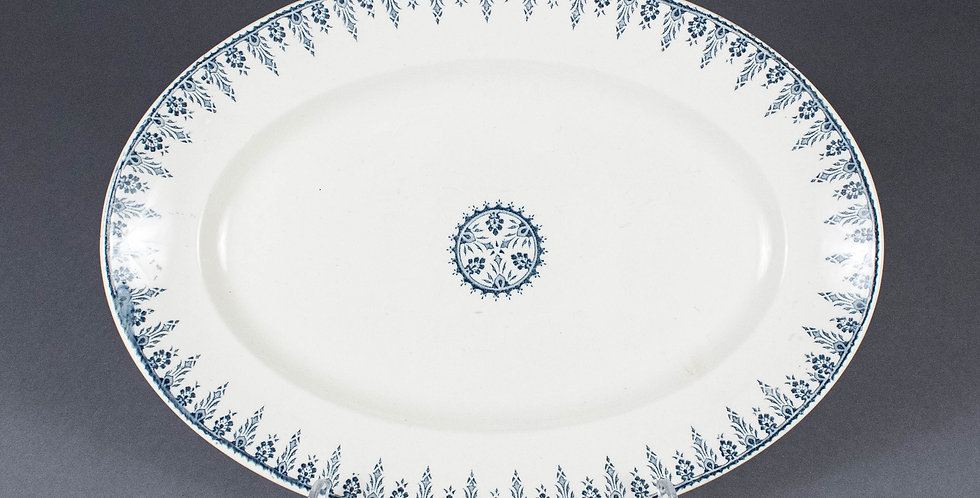 Antique French Oval Serving Platter