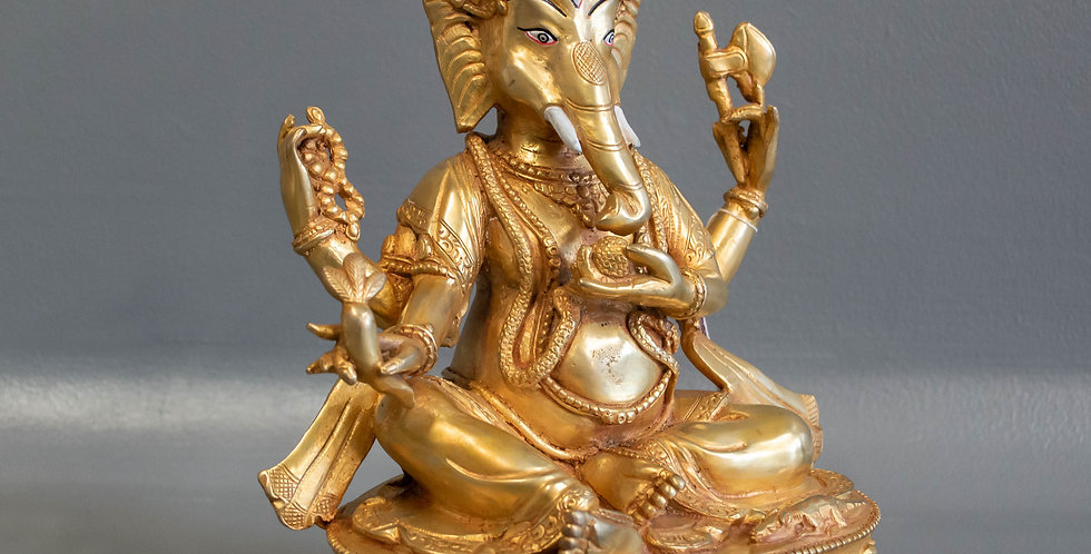 Small Bronze Sitting Ganesh