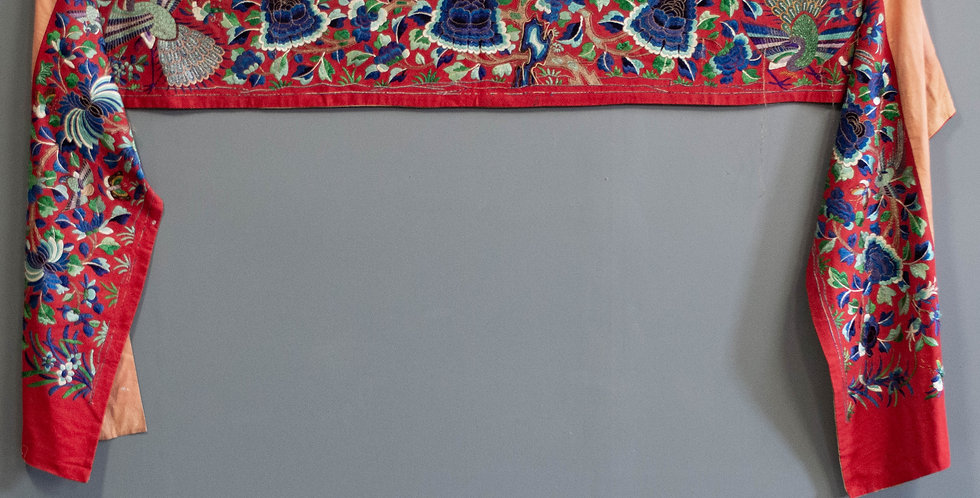 Long Chinese Embroidered Wall Hanging