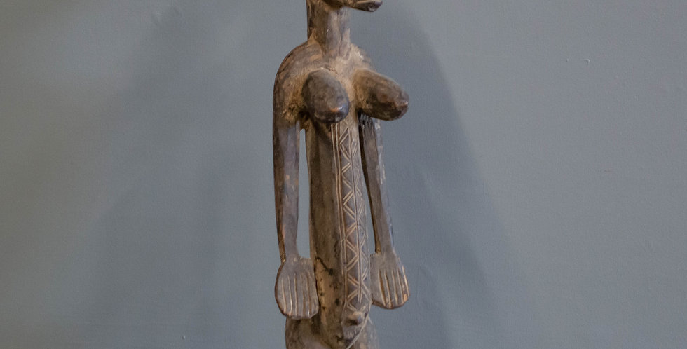 Carved Bamana Female Sculpture from Mali