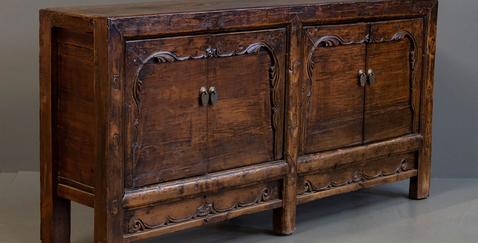 Antique Chinese Pine Sideboard Cabinet