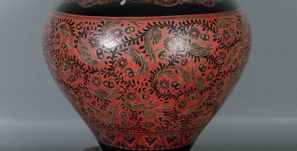 Burmese Lacquered Offering Bowl