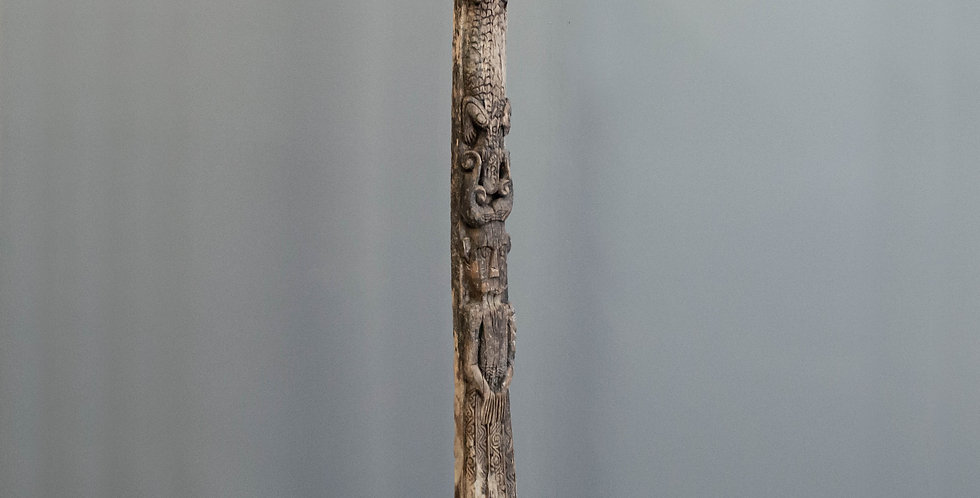 Tall, Carved Ancestral Totem (Tribal)