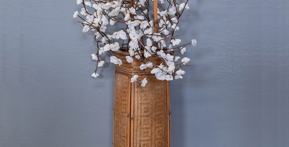 Tall Basket With Silk Flowers