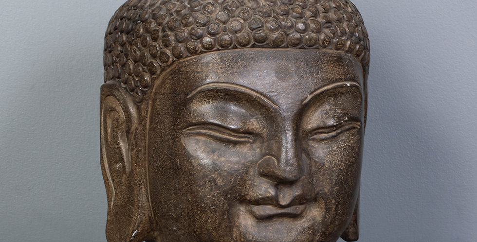 Large Carved Buddha Head