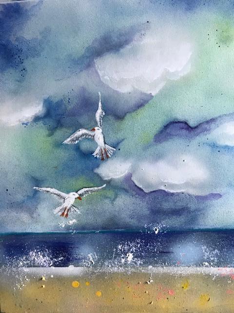 Gulls and Updraft