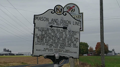 The last of the Fresco Adventure hikes in the series of Mason Dixon line crossings took us to Hagerstown and Frostburg, MD where we crossed one of the most amazing Mason Dixon line crossings