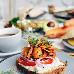 Lox and Cream Cheese Toast