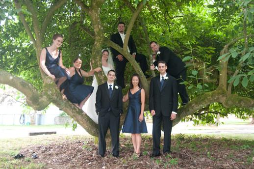 Bridal party at Sacred Heart School
