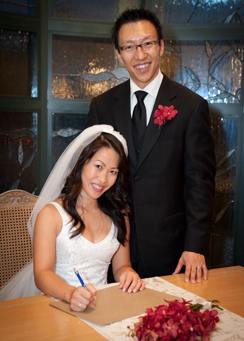 Signing wedding register