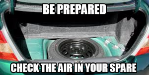 Be Prepared Remember To Check The Air In The Spare