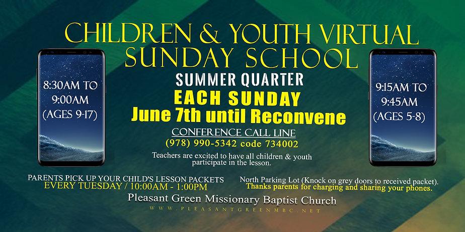 Sunday School virtual lessons June until