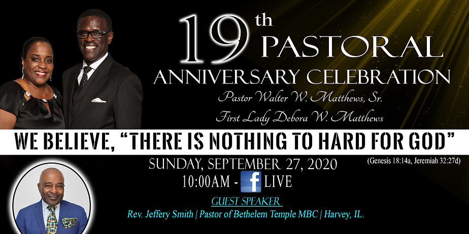 Pastor Matthews 19th Anniversary celebra