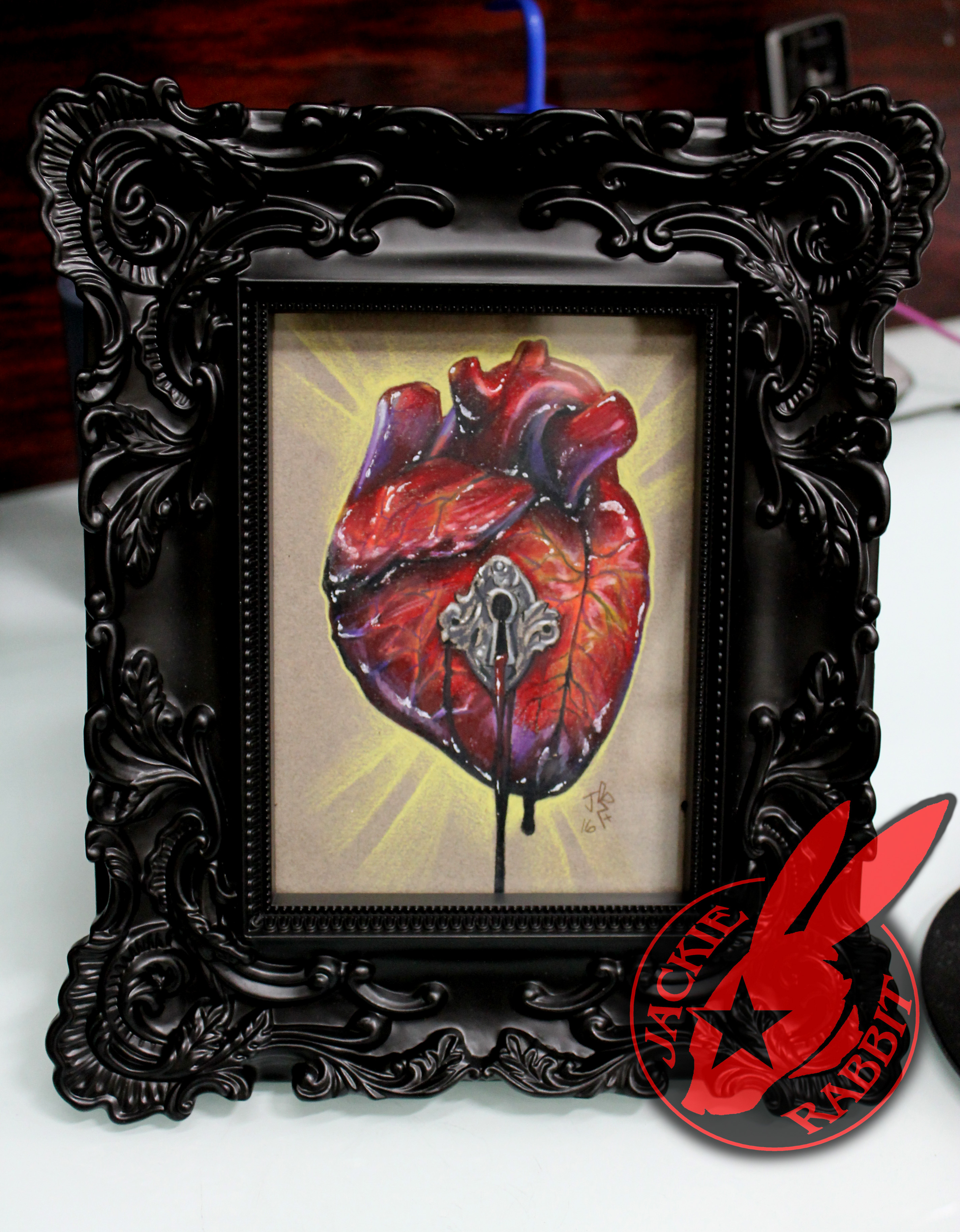 Anatomical Heart Key Hole Art Tattoo by Jackie Rabbit