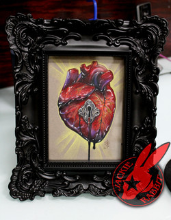 Anatomical Heart Key Hole Art Tattoo by Jackie Rabbit
