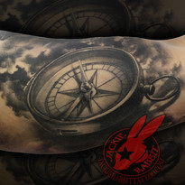 Healed Compass Black and Grey Realistic