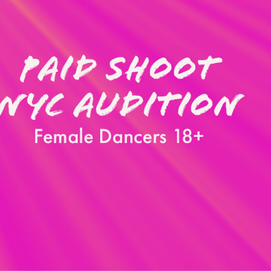Paid Shoot-Music Video Audition